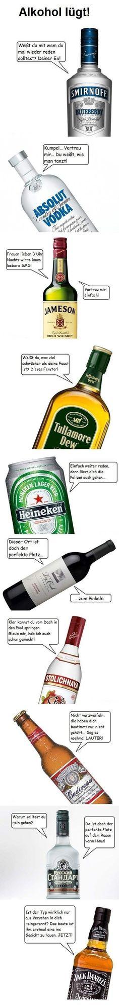 Alkohol lügt LocoPengu - Why so serious?