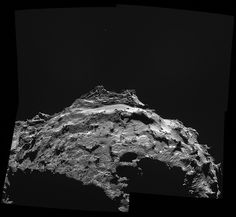 CometWatch ESA Rosetta on 30 Sep from 18.1 km - Philae will land just below the middle right (Site J) - Credits: ESA/Rosetta/NavCam - Processing by 2di7 & titanio44