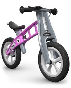 FirstBike Balance Street Bike Giveaway The FirstBike balance bike is the perfect training bike for your child ages 2 to 5 years. Supports a child's balance Pink Street, Green Street, Balance Bike, Kids Bike, Cycling Gear, Street Bikes, Toddler Gifts, Tricycle, Toys