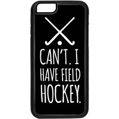Field Hockey Phone Case Rubber iPhone 6 Case Black