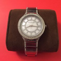 Michael Kors Accessories - Michael Kors silver watch with crystals