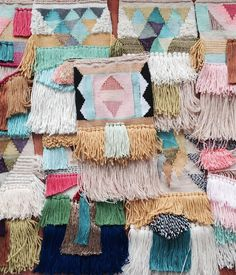 woven wall hangings by Maryanne Moodie