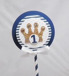 Little Prince Smash Cake Topper with Crown- Boy 1st Birthday by ...