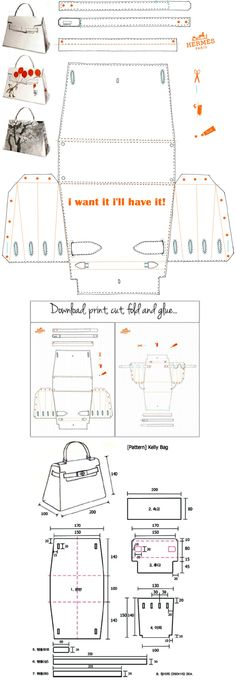 Hermès Kelly Bag Origami Paper Craft - i want it i'll have it…