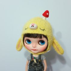Penguinbabydoll handmade Helmet hat  for Blythe by Penguinbabydoll