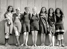 Bathing beauties in Potomac, ca. 1920