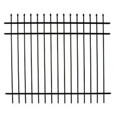 DIY Fence RR1483BL Specrail Branford Aluminum 3-Rail Fence Panel, 48-Inch by 6-Feet by DIY Fence. $119.95. 48-inch high x 6-foot wide aluminum fence section BRANFORD 1483 from DIY Residential Fence System. Perfect for defining property lines, accenting planting beds or combining with shrub plantings for a beautiful perimeter accent. Traditional three-rail design with spear-points across the top. Add the beauty of traditional wrought iron without the upkeep-durable and ...