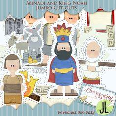 Abinadi And King Noah Cut Outs
