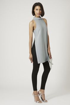 Side Split High Neck Tunic