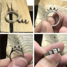 Some more progress on Erika's new ring. Coming together nicely. #harlequinjewellers #remodel #nearlyfinished