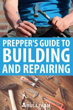 One of the most important set of skills post-SHTF is to be able to build and repair things. There will be a lot of work, so make sure you have the necessary tools and skills. Survival Quotes, Survival Food, Homestead Survival, Outdoor Survival, Survival Prepping, Survival Skills, Survival Weapons, Emergency Preparation, Survival Hacks