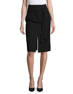 Women | Women  | Double Buckle Wool Pencil Skirt | Hudson's Bay