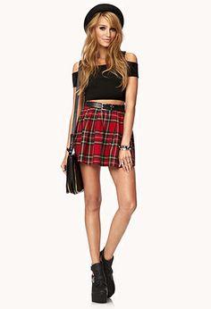 Cool Girl Plaid Skirt $19.80 Forever 21  Japanese School Girl cosplay skirt? :)