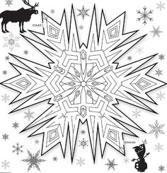 Frozen Snowflake Maze