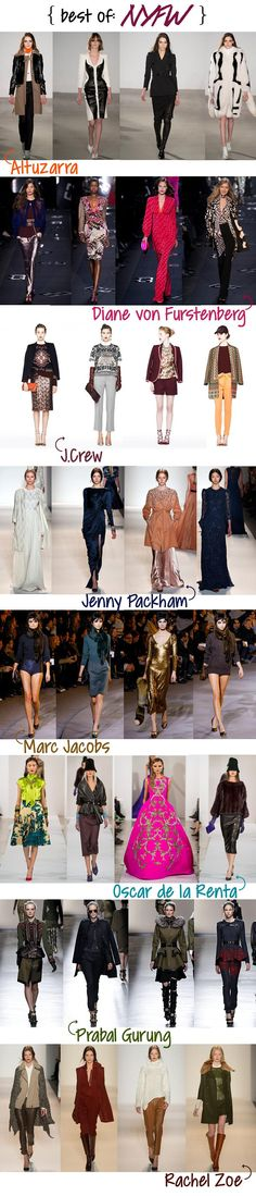 {NYFW fall 13, part 1 picks}