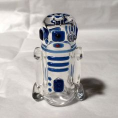 Glass R2D2 Art Pipe by LeoStudios on Etsy