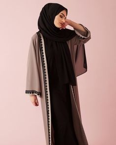 INAYAH | New In | The perfect summer kimono. Brown Nude Belted Kimono with Lace www.inayah.co