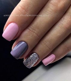 100 spring nail designs that will make you excited for spring page 16 Related - nails Short Nail Designs, Acrylic Nail Designs, Stylish Nails, Trendy Nails, Cute Acrylic Nails, Cute Nails, Hair And Nails, My Nails, Pink Gel Nails