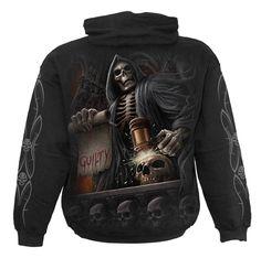 Vêtement homme SPIRAL - Judge reaper - Sweat shirt gothique squelette