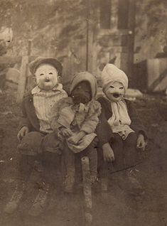 So...either Halloween was scary back in the olden days, too, or this is the youngest gang of bank robbers in history.
