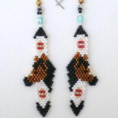 horse feather earrings