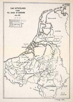 1920 Print Map The Netherlands Dukes Burgundy Flanders Luxemburg Zeeland XEW8 | eBay