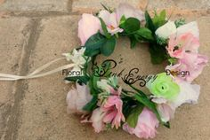 Full bridal flower crowns - adult size, adjustable - Style bold and chunky. Style Bold, Wrist Corsage, Flower Crowns, Bold Fashion, Bridal Flowers, Floral Design, Floral Wreath, Wreaths, Pink