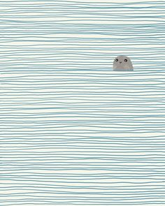 Spent Saturday kayaking in Sausalito with the seals. #Illustration by jorey Hurley.