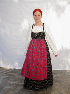 Folk Costume, Costumes, Russian Folk, Historical Clothing, Traditional Dresses, Finland, Apron, My Style, Lady