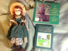 "3PC LOT ANNE OF GREEN GABLES 16"" Porcelain Doll, Storybook and Journal 10020 EUC #AvonleaTraditions #PorcelainDoll"