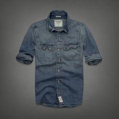 61168a8543ed Mens Flagstaff Mountain Denim Shirt