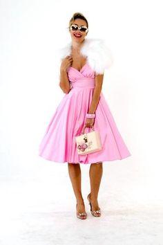 Dresses – Page 3 Races Fashion, Skirt Fashion, Fashion Outfits, Rockabilly Looks, Rockabilly Fashion, 50s Style Skirts, Vintage Style Outfits, Vintage Fashion, Full Skirt Dress