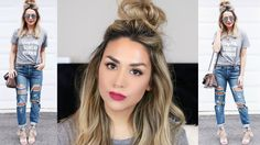 """Great Crazy Hairstyles for """"Wacky Hair Day"""" at School Short Hair Top Knot, Messy Bun For Short Hair, Easy Updo Hairstyles, Down Hairstyles, Crazy Hairstyles, Back To School Hairstyles, Everyday Hairstyles, Hair Knot Tutorial, Medium Hair Styles"""