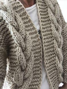 Chunky Knitting Patterns, Knitting Designs, Baby Knitting, Knitwear Fashion, Knit Fashion, Mode Crochet, Knit Crochet, Crochet Woman, Outfit Ideas