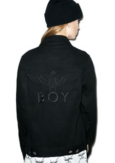 BOY London  Classic Eagle Trucker Jacket - Dolls Kill