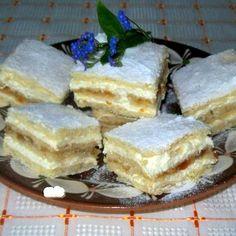 Érdekel a receptje? Hungarian Cake, Hungarian Recipes, Hungarian Food, My Recipes, Sweet Recipes, Cooking Recipes, No Bake Desserts, Dessert Recipes, Homemade Cakes