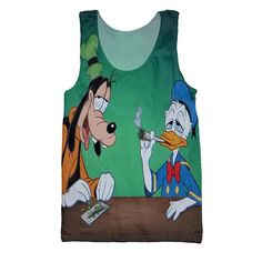 Smoke Weed Everyday - Donald Duck & Goofy Tank Top Smoke Weed, Best Tank Tops, Cool Shirts, Donald Duck, Cool Stuff, Stuff To Buy, Tank Man, Brand New, Mens Tops