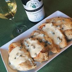 Chicken Breasts in Caper Cream Sauce Recipe