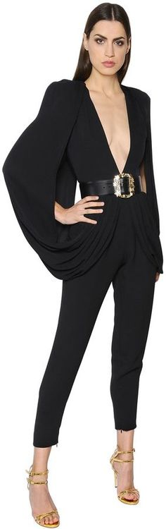 Crepe Cady Jumpsuit | #Chic Only #Glamour Always