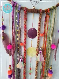 Dreamcatcher Unique Dream catcher bohemnian Wal Art Handmade dreamy Wall hanging gypsy inspired by BUBULINAS on Etsy Upcycled Home Decor, Upcycled Crafts, Diy Crafts To Sell, Gypsy Decor, Bohemian Decor, Bohemian House, Bohemian Style, Diy Dream Catcher Tutorial, Wal Art