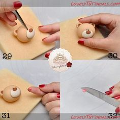 "МК лепка ""мишка на торт"" bear cake topper tutorial - Мастер-классы по украшению тортов Cake Decorating Tutorials (How To's) Tortas Paso a Paso"