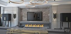 Why and how the ethanol fireplace with remote control has revolutionized the installation and use of modern home ventless fireplace? Wall Mounted Fireplace, Living Room Decor Fireplace, Living Room Tv, Bio Ethanol, Standing Fireplace, Bioethanol Fireplace, Rustic Fireplaces, Condo Decorating, O Gas