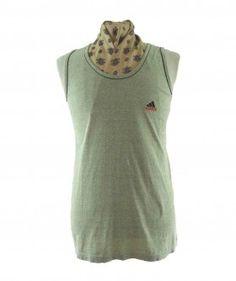"""Grey Adidas Vest #vintagefashion #vintage #retro #vintageclothing #90s #1990s #vintagetshirts <link rel=""""canonical"""" href=""""http://www.blue17.co.uk/>"""
