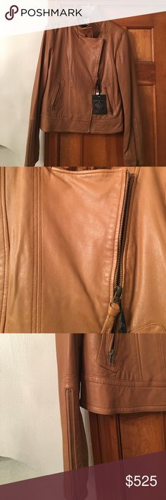 NWT Mackage Aritzia leather in Camel SZ Large NWT Mackage from Aritzia genuine 💯 leather jacket ~GORGEOUS~ camel color ~ lining is 96% Polyester 4% Spandex ~ This beauty is a classic staple for Aritzia ~ comes out every fall/winter Retail $575 plus tax,,, which I paid ~ or you can purchase from me for less. Mackage Jackets & Coats