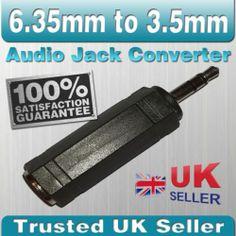 6.35mm to 3.5mm Male Stereo Audio Plug Jack Socket Adapter / Converter   eBay