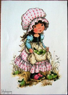 Vintage Sweet Girl Postcard Mary May Style. $4.00, via Etsy.