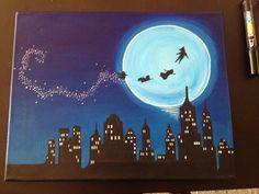 ideas for canvas art diy disney peter pan Disney Paintings, Easy Paintings, Indian Paintings, Abstract Paintings, Oil Paintings, Toile Disney, Painting Inspiration, Art Inspo, Pinturas Disney