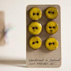 Ceramic buttons from etsy karoart