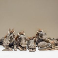 Sleepyheads, Low-Fired Ceramic  various sizes