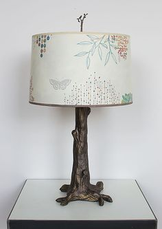 Journeys Tree Lamp by Janna Ugone, Justin Thomas: Mixed-Media Table Lamp available at www.artfulhome.com